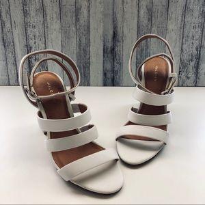 Halogen White Strap Sandal Heel | 6